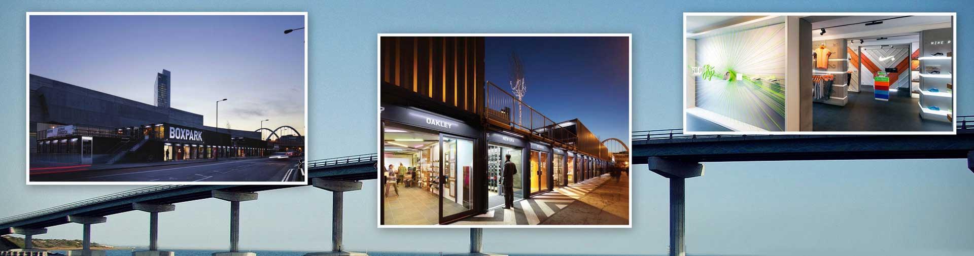 偏门吧购物中心: BOXPARK shoreditch 盒子公园
