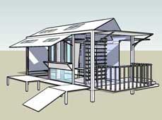 集装箱房车设计创意:带天窗的变形小屋图片