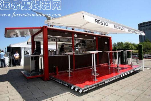 创意二手集装箱活动房屋之muvbox快餐厅图片