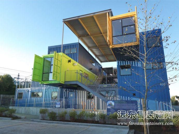 幼儿建构区搭建创意房子