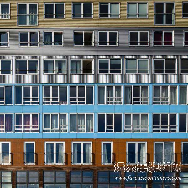 Silodam公寓,住人集装箱活动房屋,二手集装箱货柜