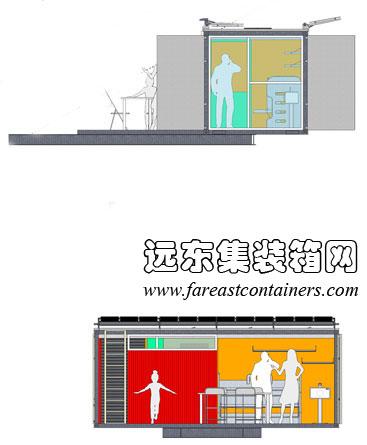 二手集裝箱活動房屋設計創意--微設計