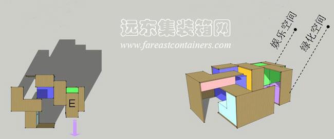 设计的灵感来源于传统家具中的抽屉,模拟小空间在经历扩展,推拉所