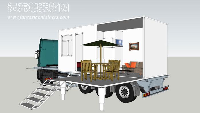 二手集装箱活动房屋设计创意 流动的小屋 1