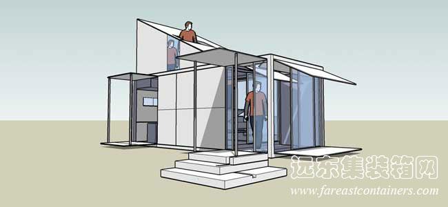 二手集裝箱活動房屋創意設計:融入自然(1)