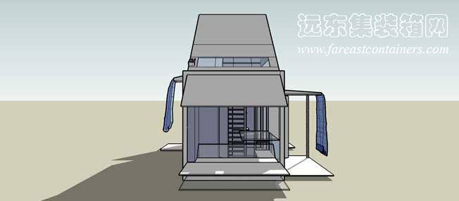 二手集装箱活动房屋创意设计:可变形的移动住所(3)