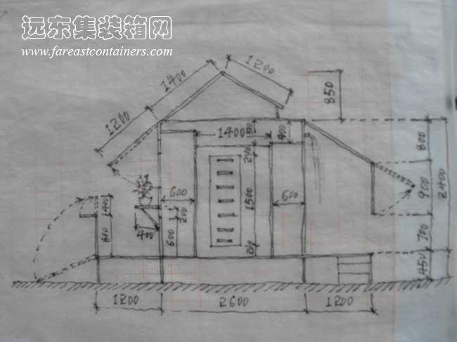 二手集装箱活动房屋创意设计:带天窗的变形小屋(完)