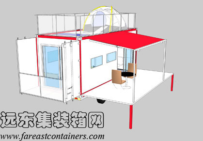 二手集装箱活动房屋设计创意:集装箱房车(1)