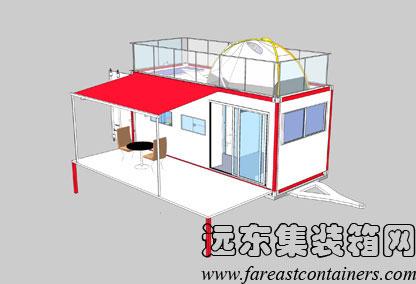 一个集装箱房屋设计图展示图片