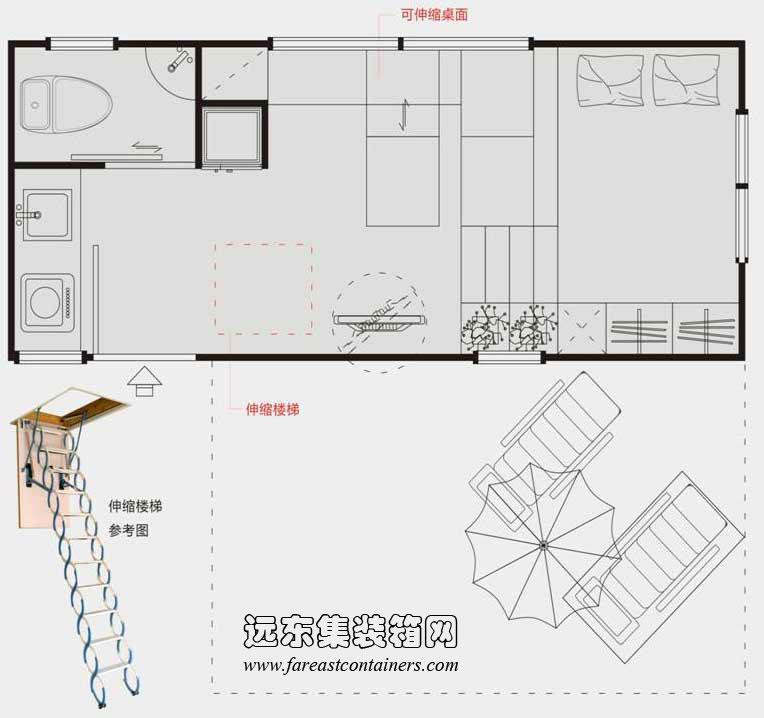 二手集装箱活动房屋设计创意:设计让生活更美好
