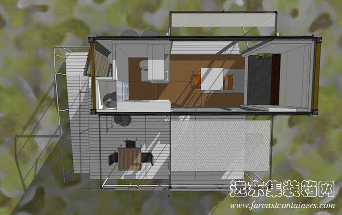 集装箱活动房屋创意建筑设计:sunset