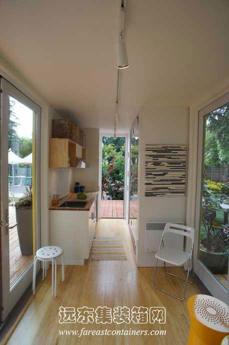箱活动房屋创意建筑设计:sunset idea house(2); 集装箱房屋内部装修