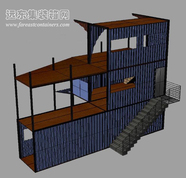 集装箱住宅创意设计:ContainerHome(1)笼图纸万向节球