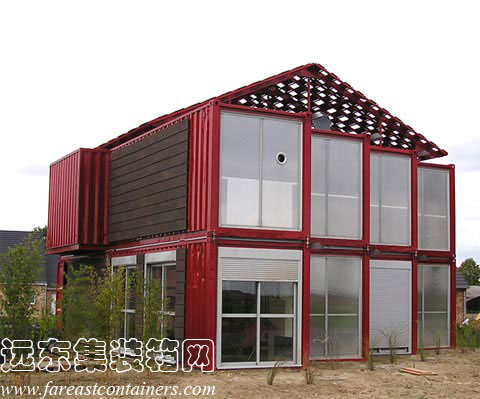 集装箱住宅别墅: Red Container House Lille,集装箱房屋,集装箱建筑,集装箱活动房,住人集装箱
