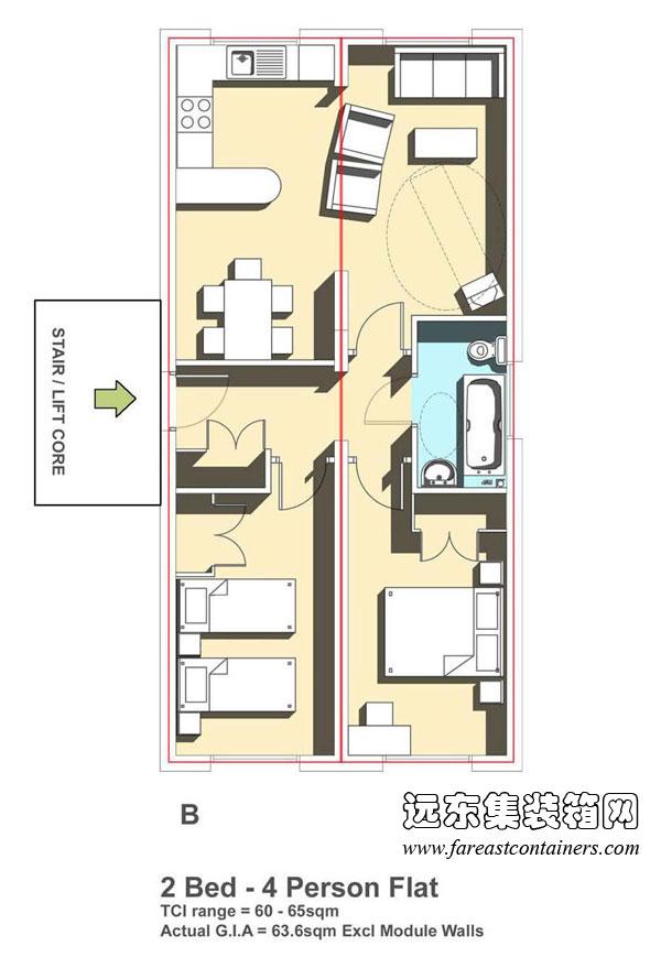 酒店卧室手绘平面图