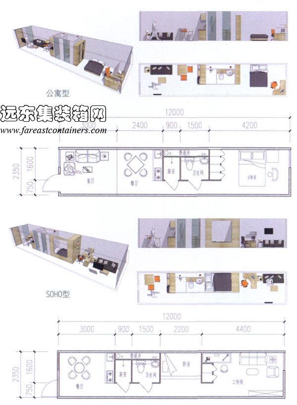 集装箱建筑式青年公寓设计研究(2)图片