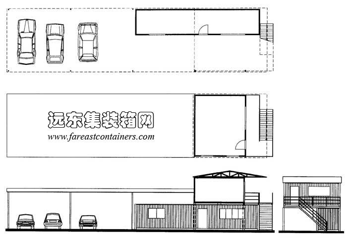 城市中建筑工地可供建造工地办公室的空间往往很受限制.