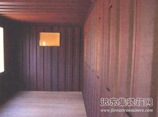 带顶棚集装箱房屋设计