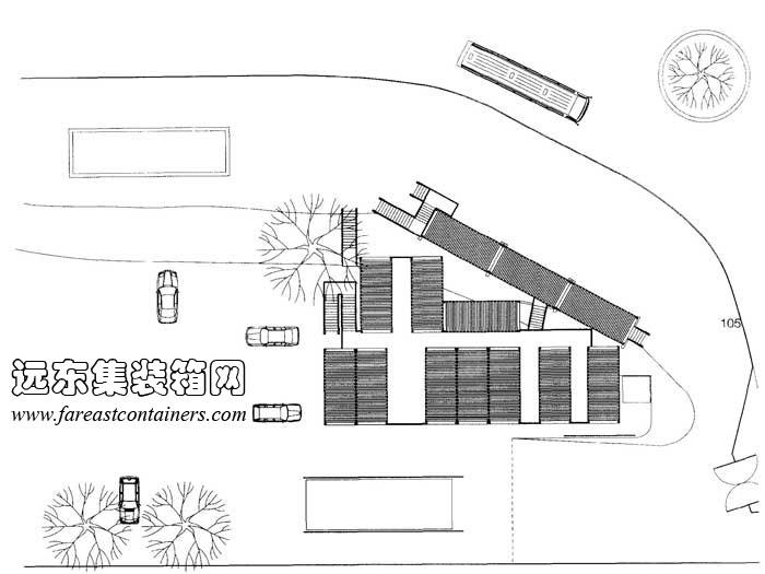 整体平面图,集装箱建筑设计图,集装箱房屋,集装箱住宅,集装箱活动房