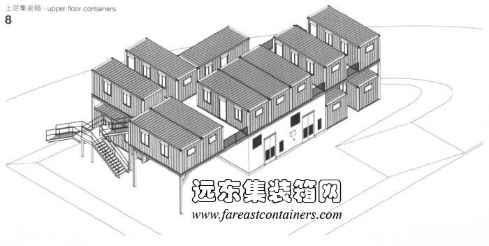 上层的集装箱,集装箱建筑设计图