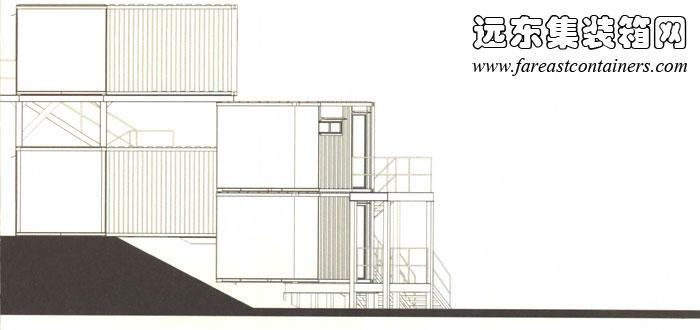 集装箱建筑设计图,集装箱房屋