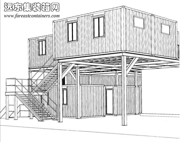 集装箱建筑设计图,集装箱房屋,集装箱住宅,集装箱活动房,住