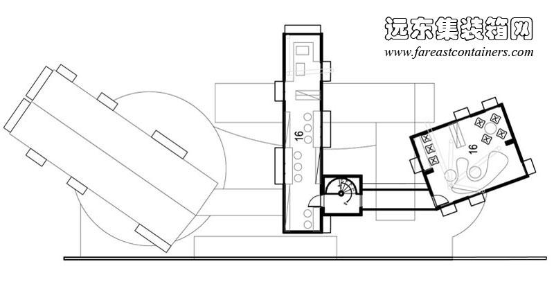contertainer项目amin集装箱图书馆设计图,集装箱建筑,集装箱房屋,集