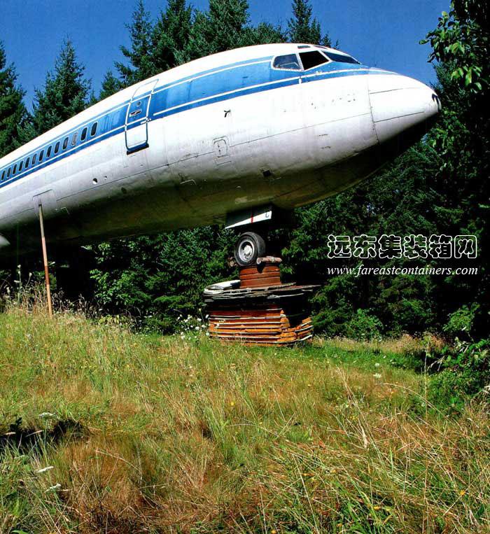 哥斯达黎加废弃飞机丛林酒店