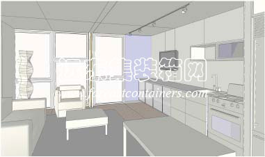 集装箱房屋设计创意: 西雅图集装箱公寓