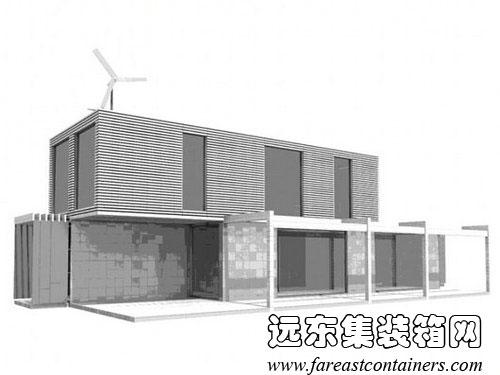 集装箱住宅立面图,集装箱建筑,集装箱房屋,集装箱活动房,住人集装箱