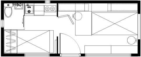 货柜立体设计图-集装箱建筑适应性设计与建造研究