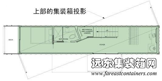 上下箱体成斜角放置平面设计图,集装箱房屋,集装箱活动房,住人集装箱