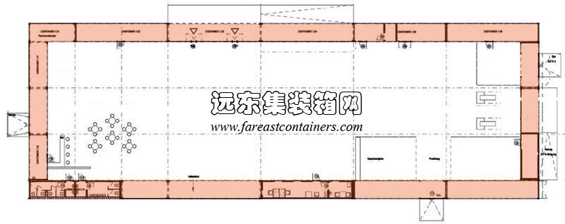 2013年6月29日 2. 箱体作为大跨结构的竖向支撑 箱体作为大跨结构竖向支撑,是利用箱体的模块化组合构成方式,用简易快捷的箱体组合来代替传统结构的立柱支撑,这样可以方便的进行模块化的施工,并且减少立柱基础施工。在使用大跨结构竖向支撑时,箱体有水平放置和竖立放置两种构成方式(图 5.
