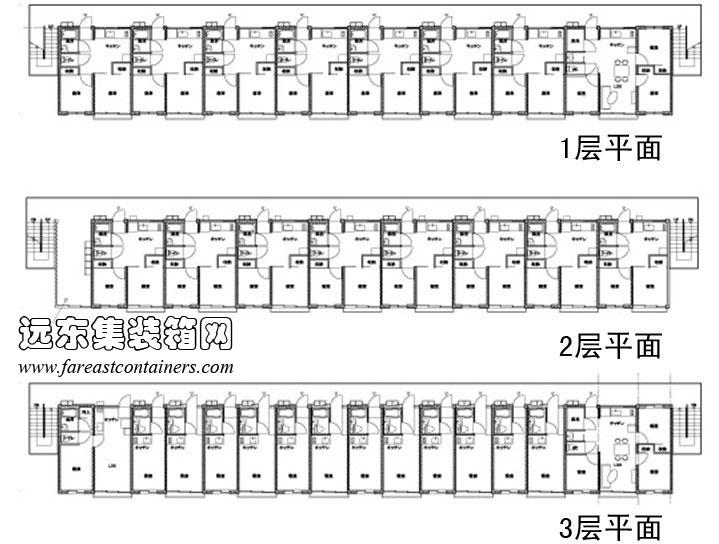 女川集装箱集合住宅平面设计图