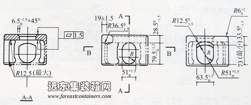 2013年8月12日  图 A-4 IAA、ICC 集装箱前端图  图 A-5 IAA、ICC 集装箱横向剖面图  图 A-6 IAA 集装箱纵向水平、竖向剖面图  图 A-7 ICC 集装箱纵向水平、竖向剖面图   相关内容: