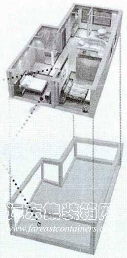 手绘建筑分解图