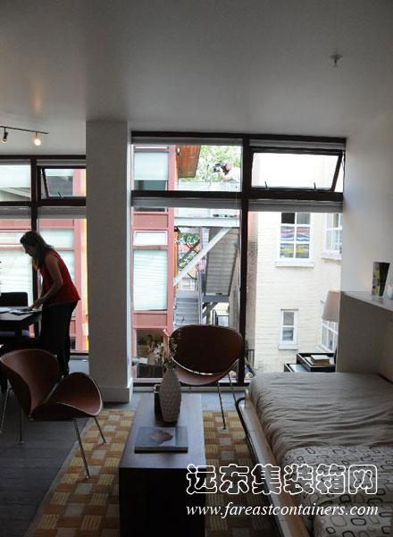 加拿大温哥华的集装箱房屋式廉租房公寓图片