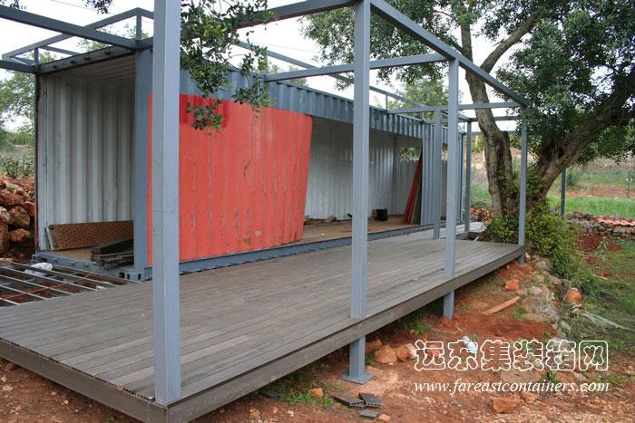 隐于乡间的小型集装箱别墅(3)廊坊招聘茶艺师花园别墅图片