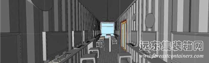 librii集装箱图书馆内部透视图