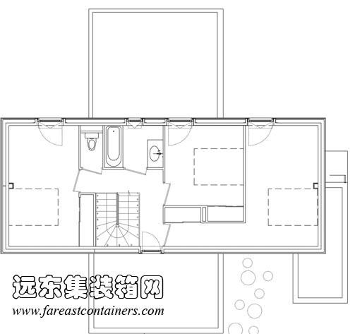2013年11月15日  十字箱集装箱住宅二层平面图  十字箱集装箱住宅剖面图 Caterpillar 集装箱住宅 设计:Sebstin Irarrzaval 建筑事务所 地点:智利 圣地亚哥 用途:家庭住宅 竣工时间:2012年 集装箱数量:12 世界建筑的地图中有了越来越多智利人的作品。尤其是最近几年,来自智利的高设计水准的项目不断增多,这让智利逐渐成为拉丁美洲建筑界的王者。Sebstian Irarrzaval 建筑事务所设计的该集装箱住宅就是发展迅速、繁荣的建筑界的一颗宝石。该集装