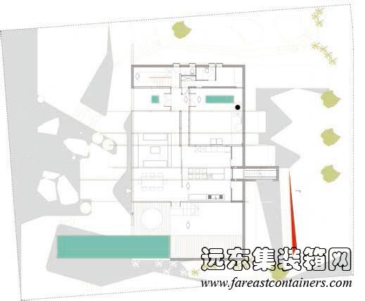 caterpillar 集装箱住宅一层平面图