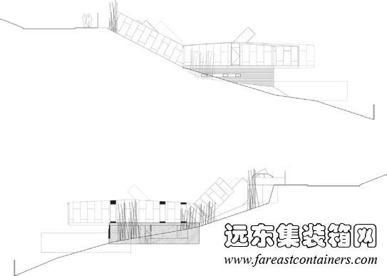双斜坡活动屋顶结构图