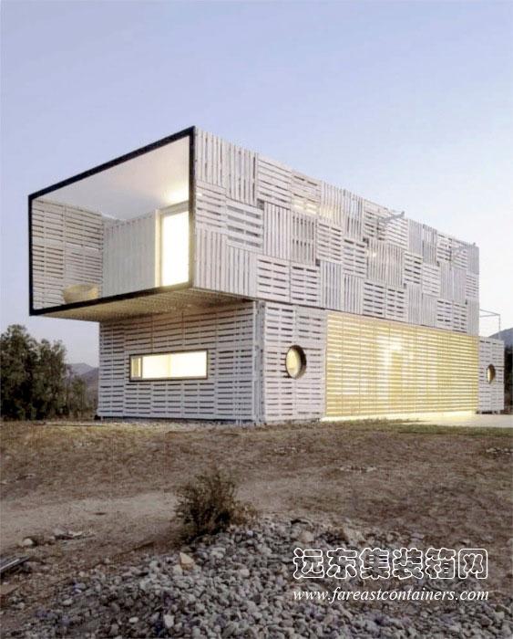 集装箱别墅设计:infiniski manifesto house(1)