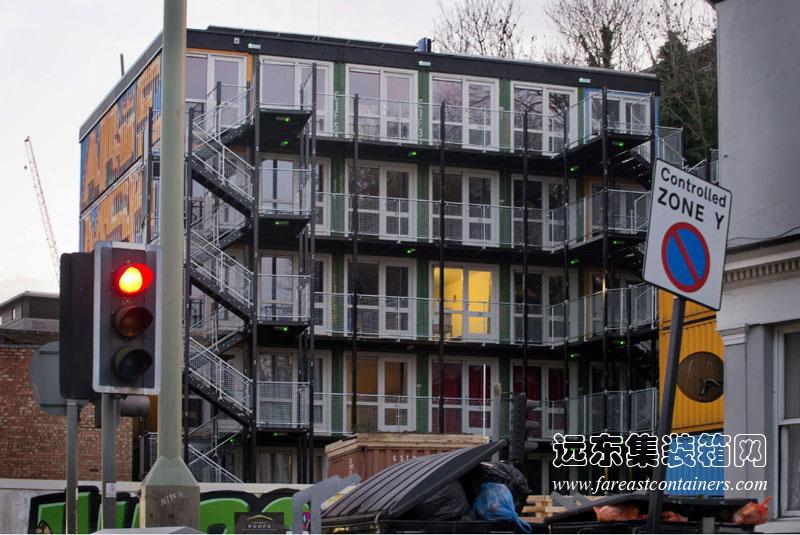 集装箱住宅项目:英国布莱顿集装箱公寓图片